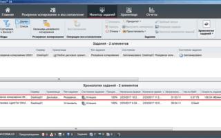 Резервное копирование в программе Symantec Backup Exec 16